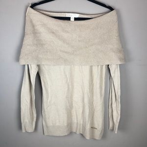Michael Kors Caramel Off Shoulder Sweater